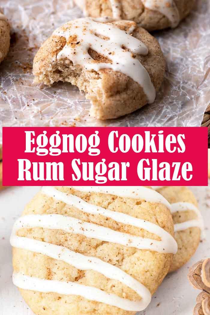 Eggnog Cookies And Rum Sugar Glaze