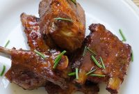Glazed Pork Ribs - Delicious Home Recipes