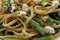 Lemon Feta Linguine With Garlic Asparagus - Appetizers