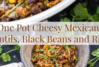 One Pot Cheesy Mexican Lentils, Black Beans And Rice - Appetizers