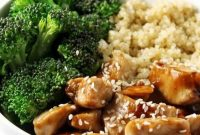 CHICKEN TERIYAKI QUINOA BOWL - Food Blogger