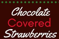 Chocolate Covered Strawberries - Mom's Recipe Healthy