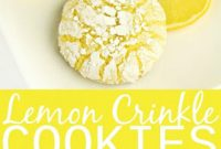 LEMON CRINKLE COOKIES | All Recipes Easy