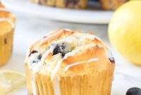 Lemon Blueberry Muffins - FoodinGrill