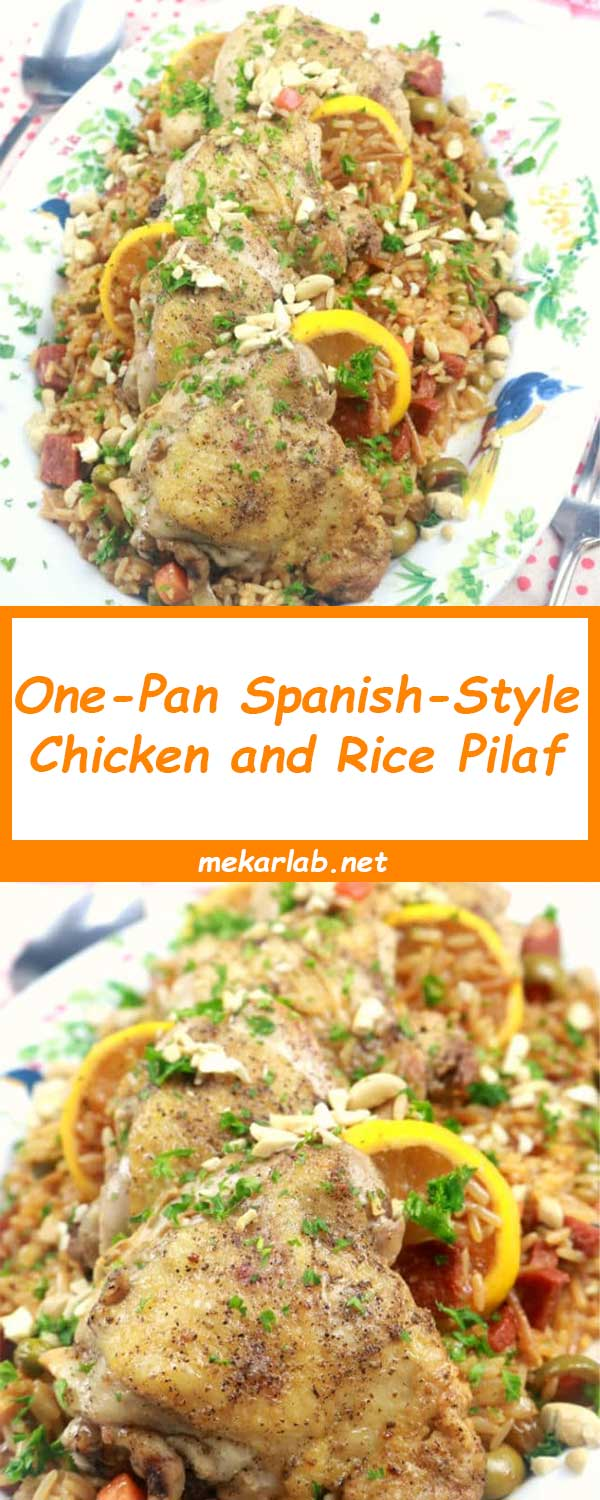 One-Pan Spanish-Style Chicken and Rice Pilaf