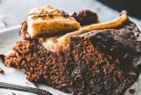 Skillet Chocolate Banana Bread - FoodinGrill
