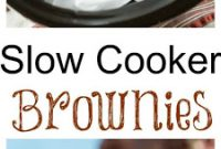 Slow Cooker Triple Chocolate Brownies