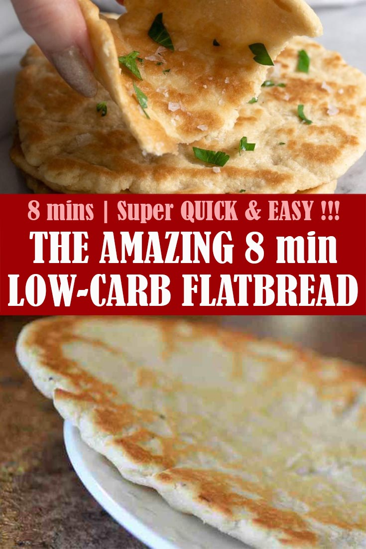 THE AMAZING 8 min LOW-CARB FLATBREAD