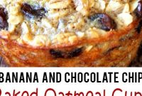 Baked Banana and Chocolate Chip Oatmeal Cups (Healthy and Easy Grab-N-Go Breakfast)