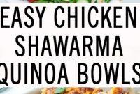 Easy Chicken Shawarma Quinoa Bowl [Video]