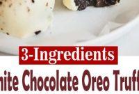 3-Ingredient White Chocolate Oreo Truffles {+video}