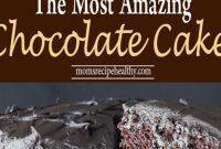The Most Amazing Chocolate Cake Recipe {+video}