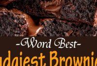 Worlds Best Fudgiest Brownies Recipes {+video}