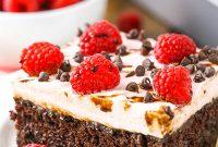 Raspberry Chambord Chocolate Poke Cake