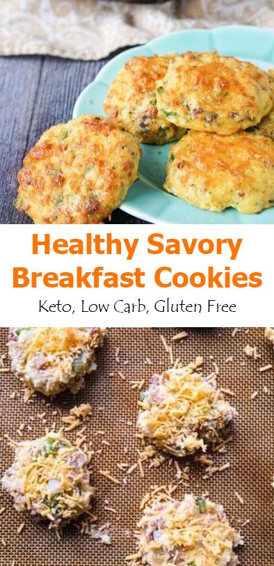 Healthy Savory Breakfast Cookies