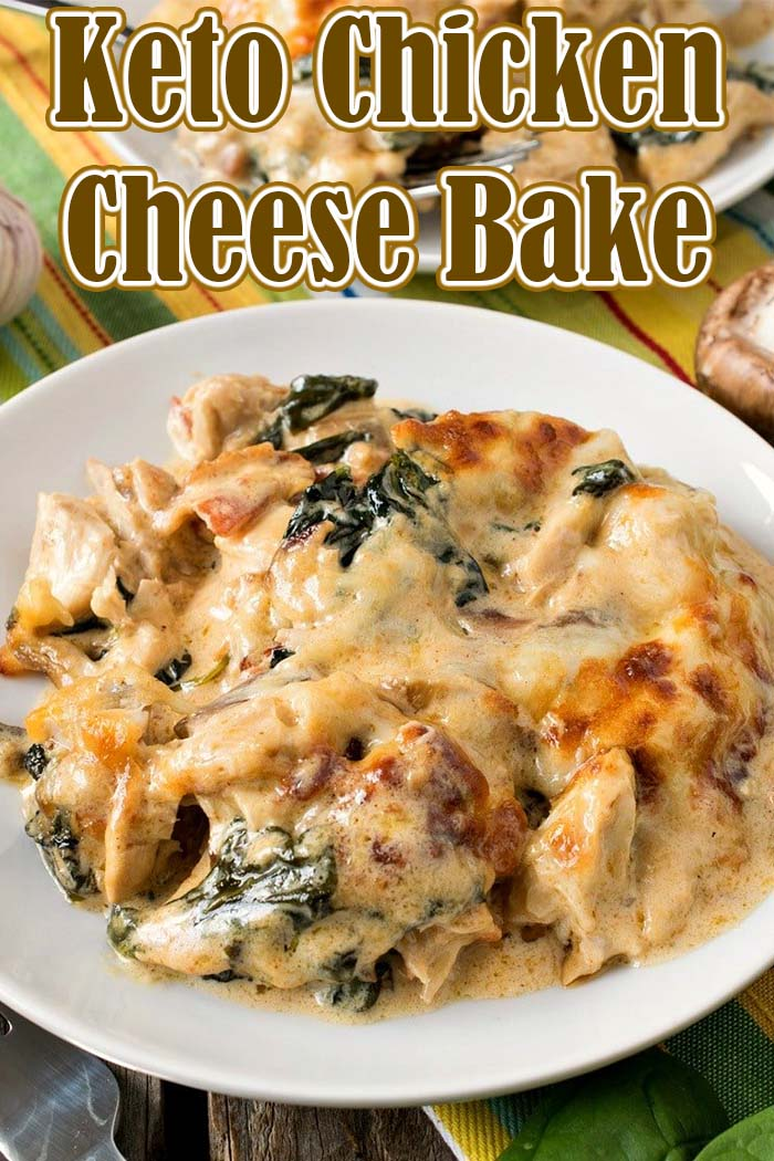 Keto Chicken Cheese Bake