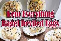 Keto Everything Bagel Deviled Eggs