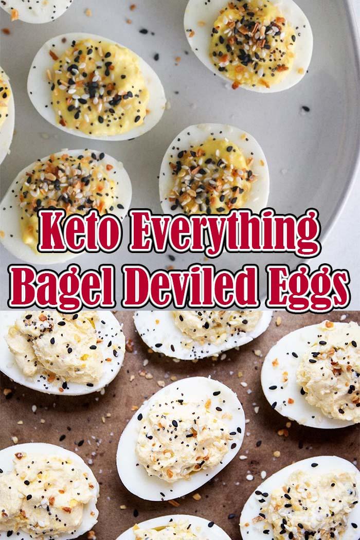 Keto Everything Bagel Deviled Eggs