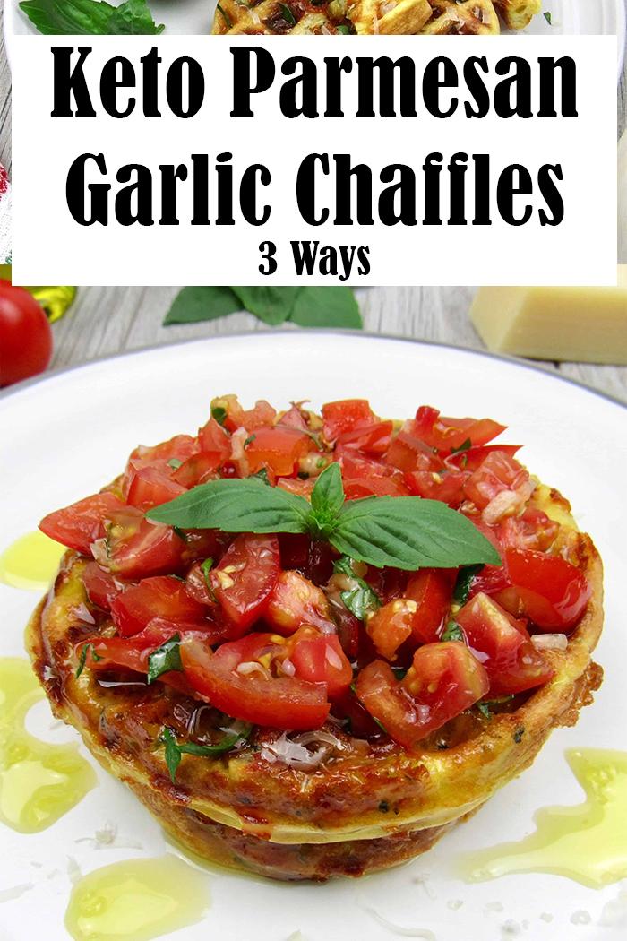 Keto Parmesan Garlic Chaffles