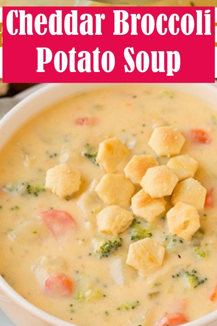 Cheddar Broccoli Potato Soup Recipe