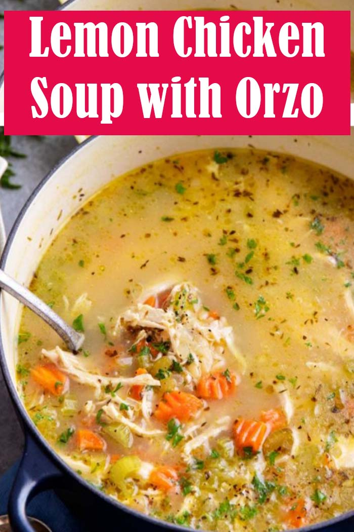 Lemon Chicken Soup with Orzo Recipe